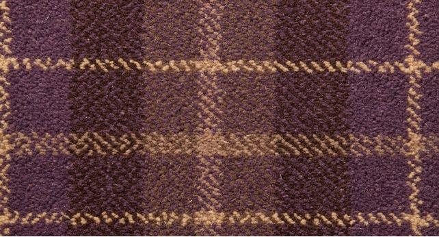Purple Tartan Carpet, available from ScS #tartan #carpet