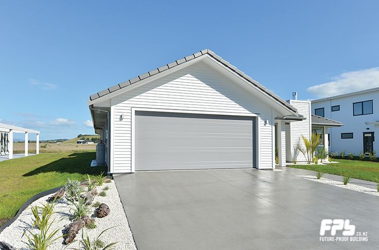 The Dominator Milano is a steel sectional overhead garage door. The fine pencil-rib design, in a smooth finish, will enhance the appearance of your home. Features and Benefits: Smooth and Quiet, Easy Operation,    Weather Protection, Durability. Colours:  Available in an extensive range of Pre-painted or Powder Coated options. www.dominator.co.nz