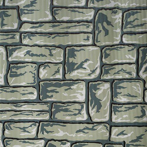Flagstone Patterned Corrugated & Flat Paper
