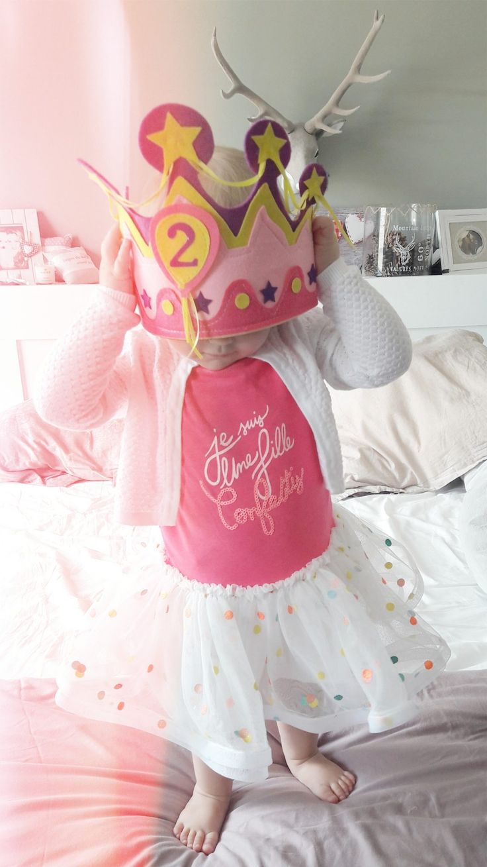 Birthday girl Outfit: BillieBlush confetti dress