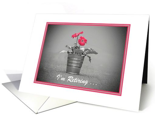 Retiring Announcement With Pink Daisies/Custom card (1281640)