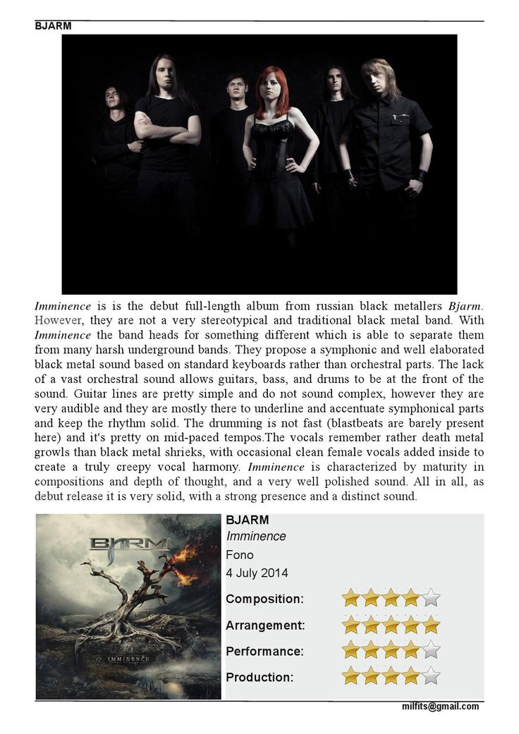 """Take a look at #MILFITS review of the debut #BJARM's album """"Imminence"""""""