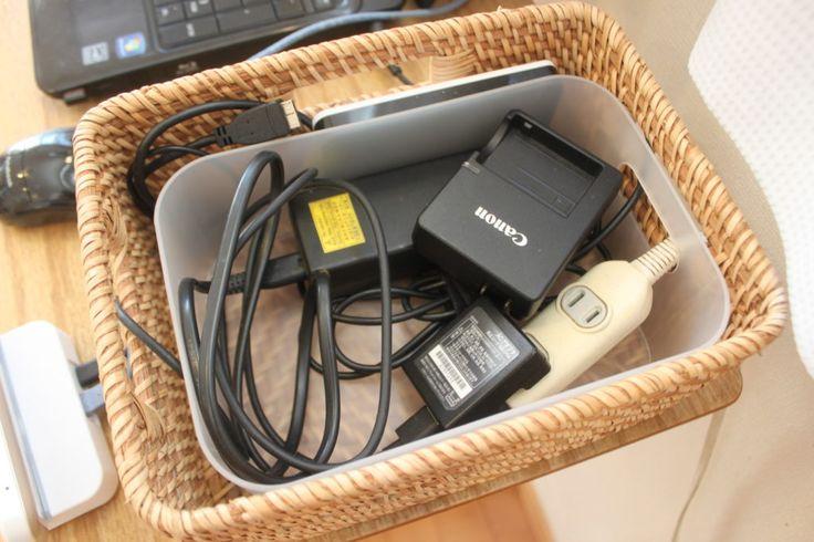 配線コード収納 ケーブルボックスはニトリとダイソーのボックスで作れる | まいCleanLife-お片づけBlog-