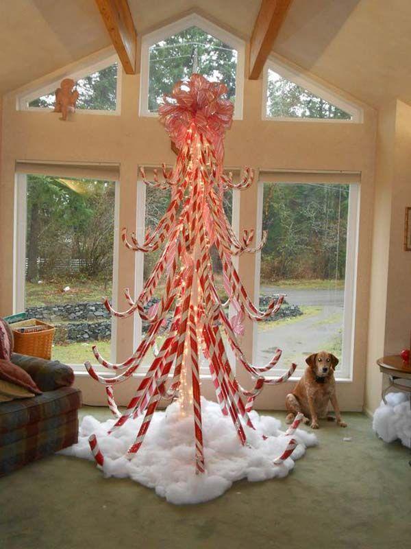 Candy Cane Christmas Decorations Ideas Amusing 10 Exciting Christmas Decorations Created From Pool Noodles  Pool Inspiration Design