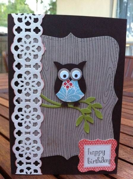 Owl card by DeelishDesigns - Cards and Paper Crafts at Splitcoaststampers