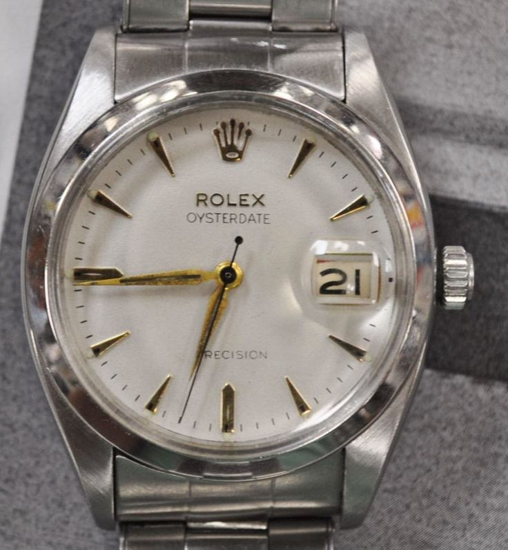 #Forsale #Rolex Oysterdate Precision 6694 Vintage Stainless Steel Black Red No Reserve #Auction @$1,375.00