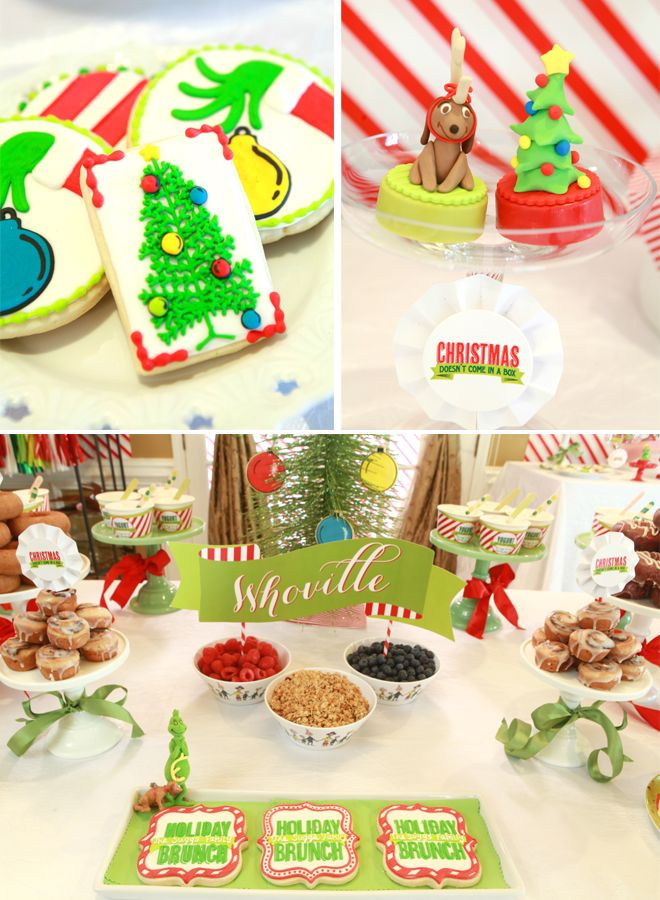 would love to have the cookies with the hand taking the ornament at my party