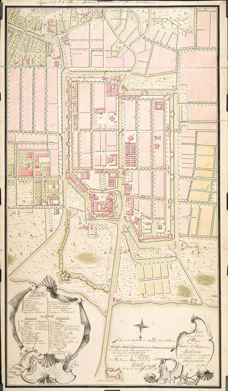 The city and the castle at Batavia 1762