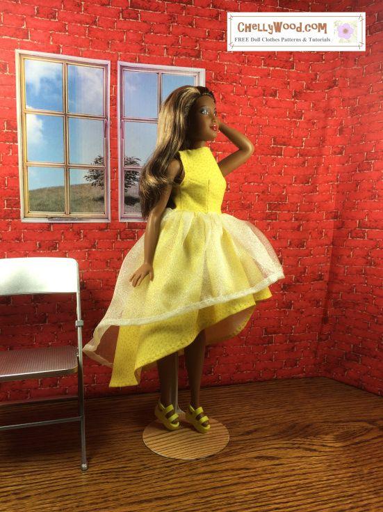 717 best doll patterns images on Pinterest   Barbie dress, Doll ...