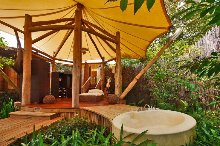 The outdoor #bathroom at Soneva Kiri #Thailand