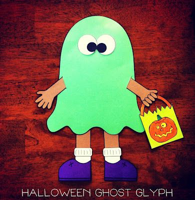 halloween ghost glyph by the teacher wife - Halloween Glyphs
