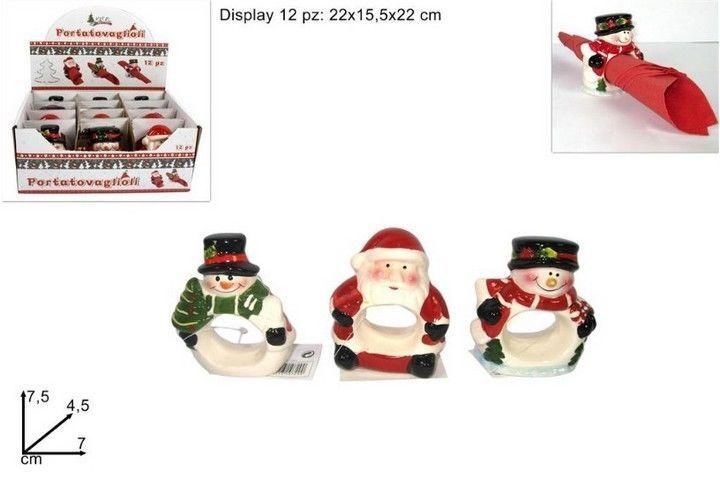 Portatovaglioli natalizi ad anello in materiale porcellana con soggetti pupazzo di neve in confezione 12pz #natale #christmas #capodanno #befana #epifania #natalizia #natalizie #natalizi #natalizio #natività #portatovaglioli #portatovagliolo #ceramica #ceramiche #ceramici #ceramico #ecommerce #homebusiness #negozi #negozio #shopping #entrataliberashopping