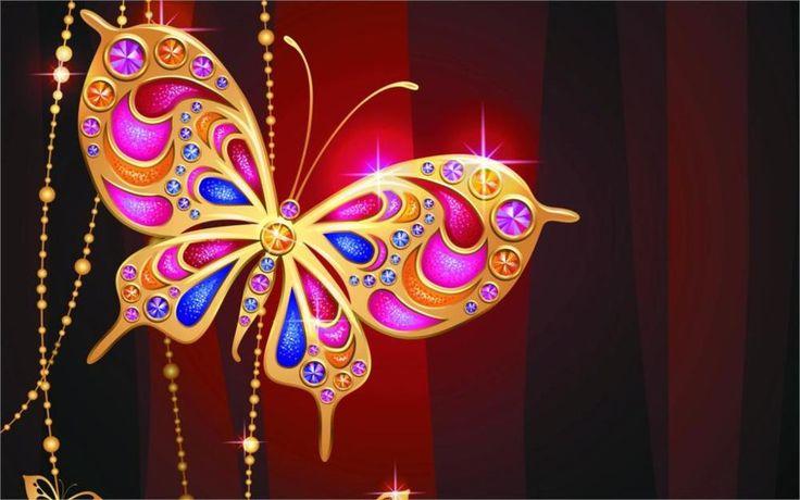Стиль ювелирных изделий бабочка золото алмазы джем дизайн искра люкс 5 Размеры Домашнего Декора Холст Печати Плакатов Картина Для Гостиной