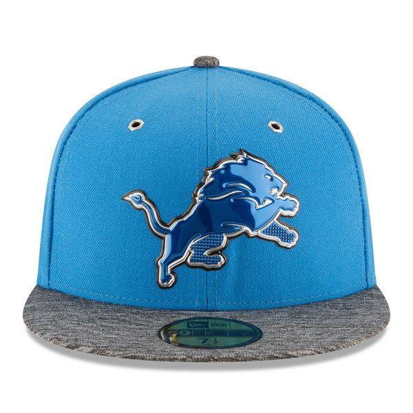 NFL New Era Detroit Lions Men's Blue/Heathered Gray 2016 NFL Draft On Stage 59FIFTY Fitted Hat