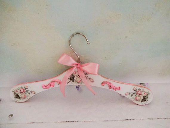 Pink Wedding Hanger Bridal Hanger Vintage Wedding Hanger