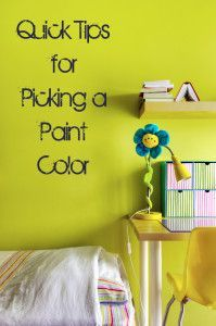 About to paint your room? Here are some quick tips for picking a paint color