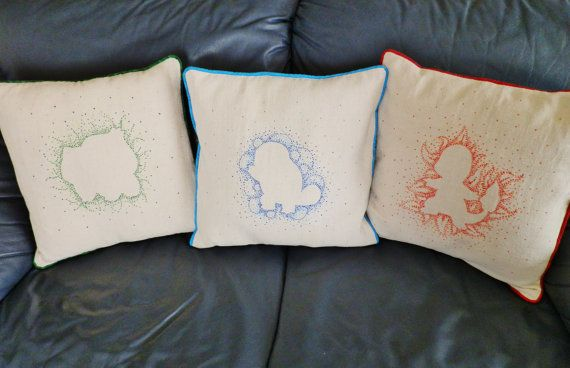 Who's That Pokemon?! Decorative Pillow Cases, Set of Three