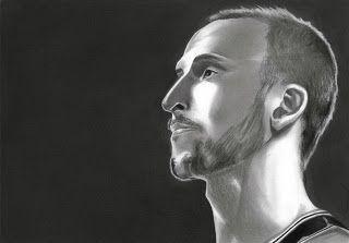 Graphite Sketch - Portrait of Manu Ginobli