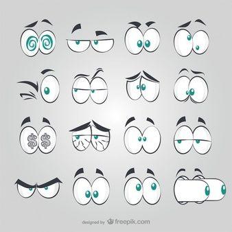 Estilo olhos quadrinhos