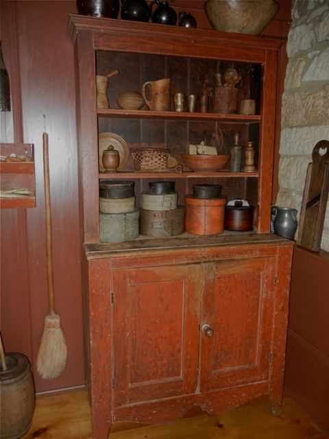 Collection in Wonderful Cupboard  Primitive KitchenCountry ...