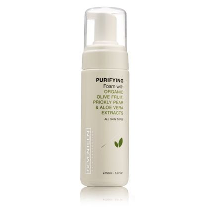 Purifying Foam | Seventeen Cosmetics Purifying Foam with Organic Olive Fruit, Prickly Pear & Aloe Vera extracts #Seventeen #Cosmetics #foam
