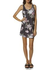 ALL ABOUT EVE AMAZON WOMENS TANK DRESS - BLACK FLORAL on http://www.surfstitch.com