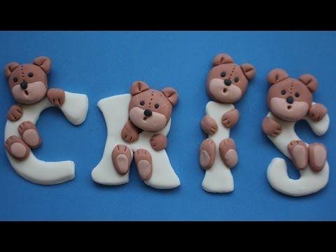 Letras de fondant con ositos. Bear letters - YouTube