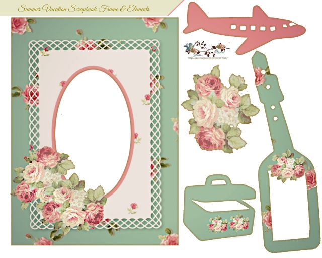 Dynamite image with printable scrapbook embellishments