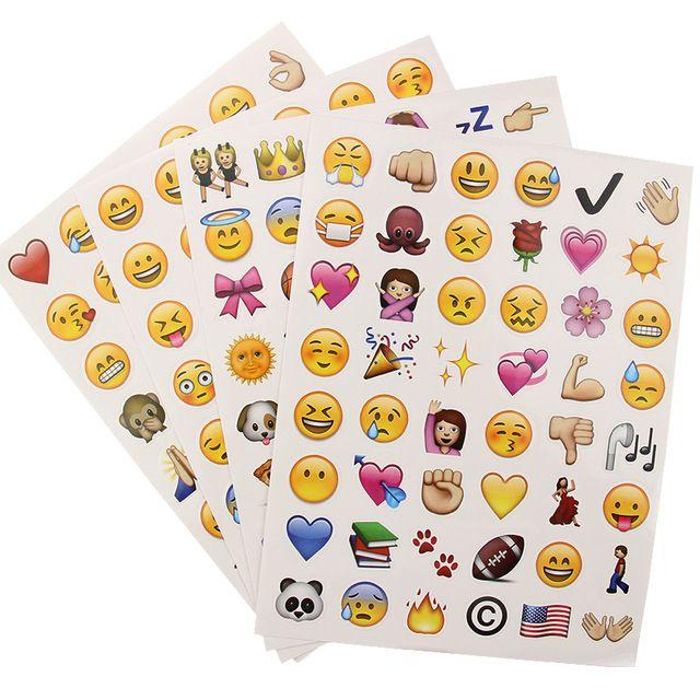 Новые Симпатичные 48 Die-Cut Emoji Улыбка для Ноутбука Стикер Стены Творческий Многофункциональный Главная Декоративные Наклейки
