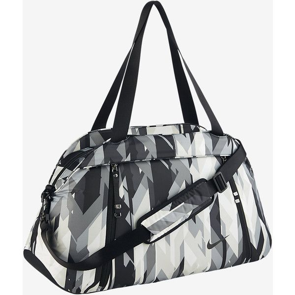 Nike Auralux Print Club Training Bag. Nike.com ($80) ❤ liked on Polyvore featuring bags, handbags, white purse, nike bags, nike handbags, print purse and nike purse