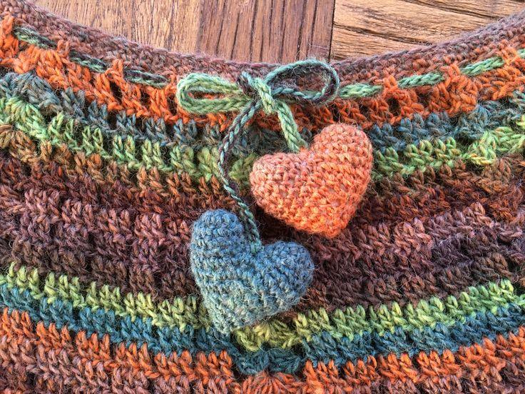 Crochet hearts Virkade hjärtan