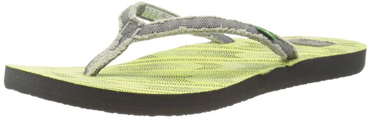 Sanuk Women's Slim Fraidy Funk Flip-Flop -- Check out this great image  : Sanuk flip flops