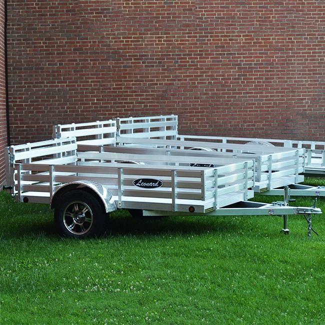 Leonard 5'x8' Aluminum GMAX Series - TRLU-0508ALU-160 angle