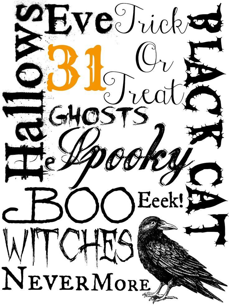 free halloween subway art printable | Katie{Did}It: Free Halloween Printables
