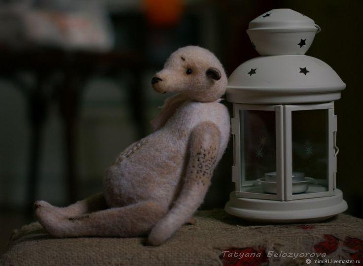 """Купить Мишка """"Винтаж"""" - комбинированный, мишка из шерсти, тедди, мишка тедди, Мокрое валяние"""