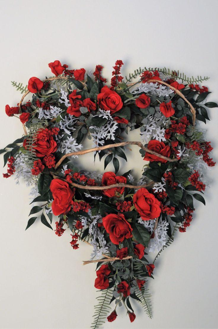 Best 25 heart shaped wreath ideas on pinterest heart wreath valentine wreath heart shaped wreath handmade wreath designer wreath by heatherknolldesigns on etsy rubansaba