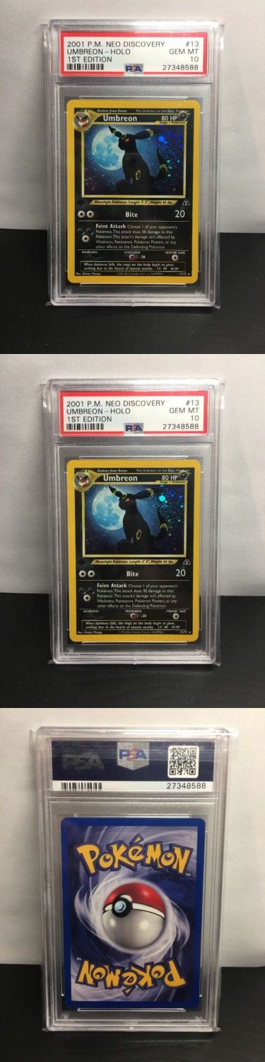 Pok mon Individual Cards 2611: Pokemon Umbreon Neo Discovery 1St Edition Holo Psa 10 Gem Mint #13 75 Beauty -> BUY IT NOW ONLY: $800 on eBay!