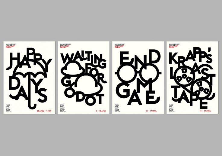BECKETT'S FOUR PLAY POSTERS on Behance