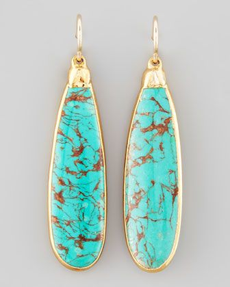 Love these. Devon Leigh Turquoise Teardrop Earrings - Neiman Marcus