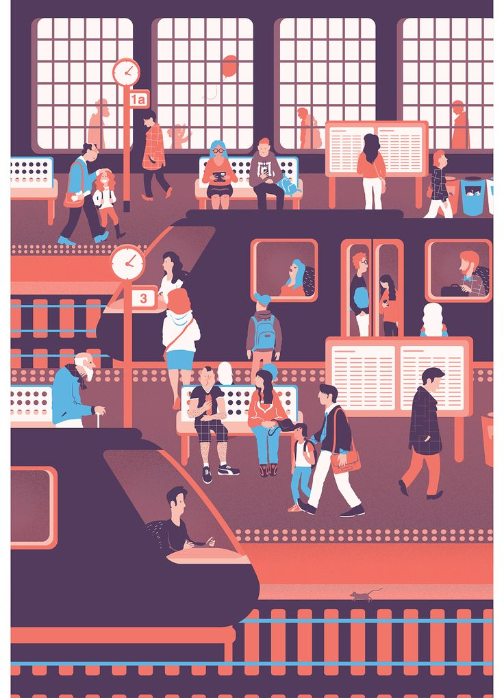 The train station on Behance