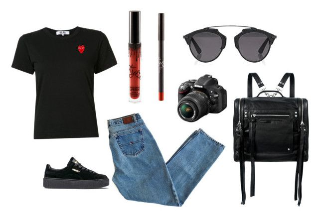 """""""Spring vibes"""" by laczolaura on Polyvore featuring Christian Dior, Play Comme des Garçons, Puma, McQ by Alexander McQueen and Nikon"""
