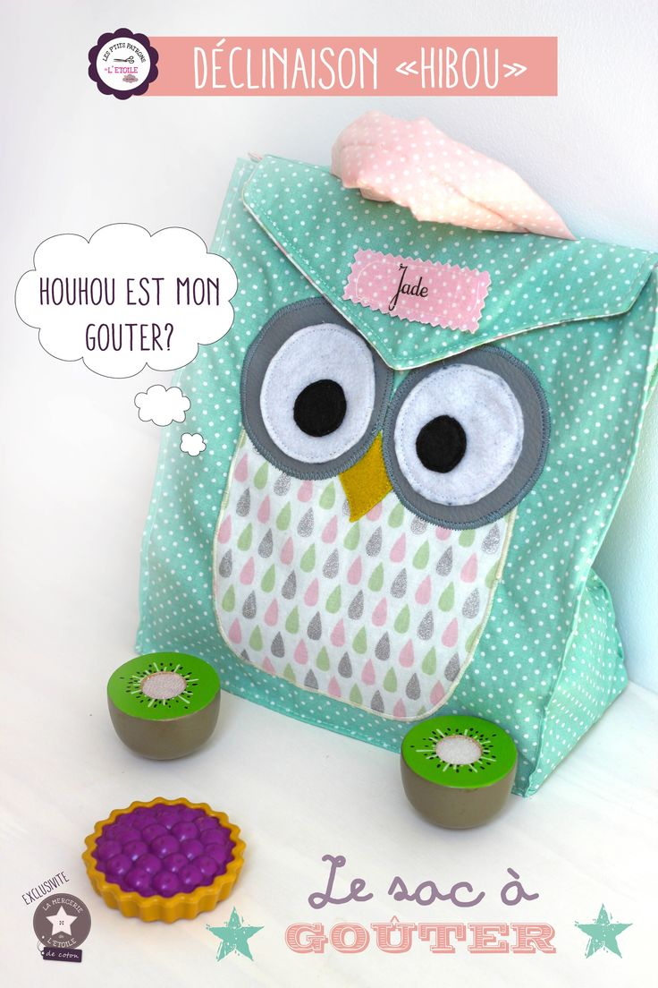 Snack bag owl Version - pdf tutorial en francais :D  Links also to a plain version (without owl).