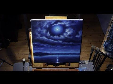 How To Paint a Full Moon Sky - Get the acrylic painting lesson in real time here: http://nagualero.com/fullmoon-lesson  #fullmoon #fullmoonpainting #twighlight #acrylicpaintinglesson #acrylictips #acrylicpainting #acrylicpaintingtechniques