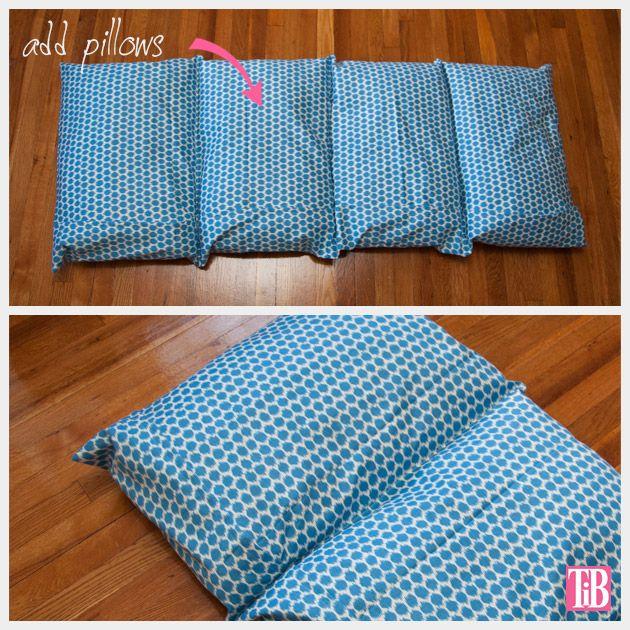 DIY Pillow Lounger Add Pillows