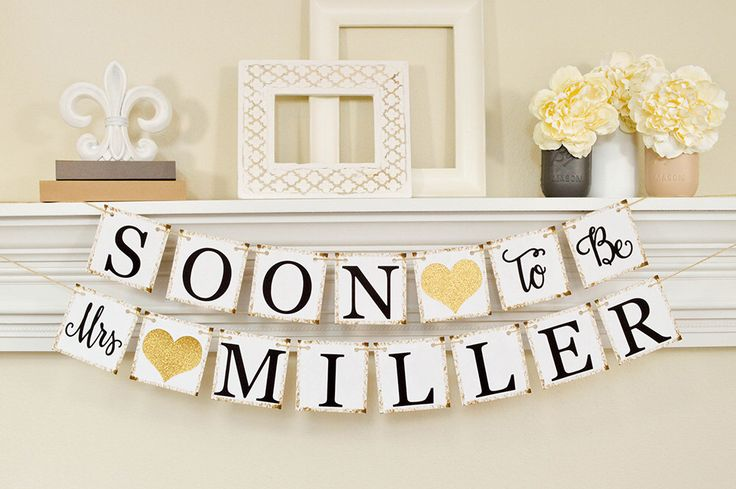 Soon To Be Mrs Banner, Bridal Shower Decorations, Bridal Shower Banner, Soon To Be Mrs, Bachelorette Party, Bridal Shower Gold Glitter, B206 by ABannerAffair on Etsy https://www.etsy.com/listing/259758066/soon-to-be-mrs-banner-bridal-shower