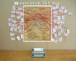 Really like this as a group/ community art project. More information on their blog: http://analogueartmap.blogspot.co.uk/