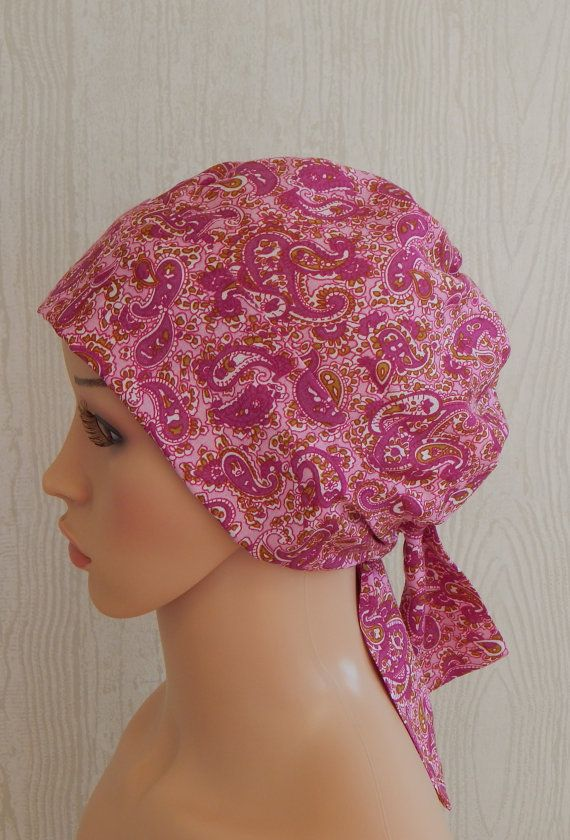 Pink Chemo Cap Cancer Head Wear Summer  Cancer by kristine1986