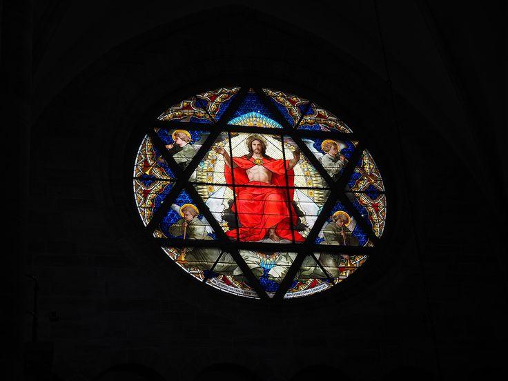 Kristus Okno, Okna, Mozaika, Kristus, Basler Münster