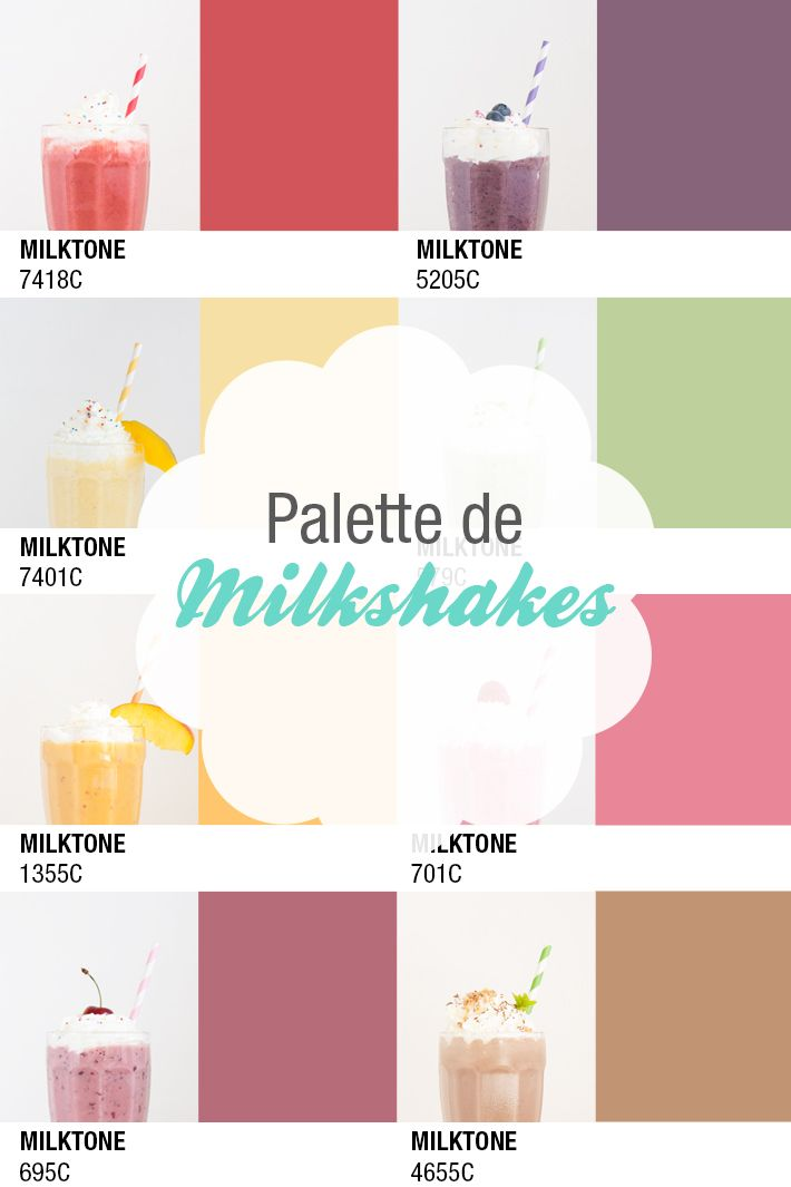 One milkshake a day... Une palette de 8 milkshakes, pour chaque jour de la semaine.
