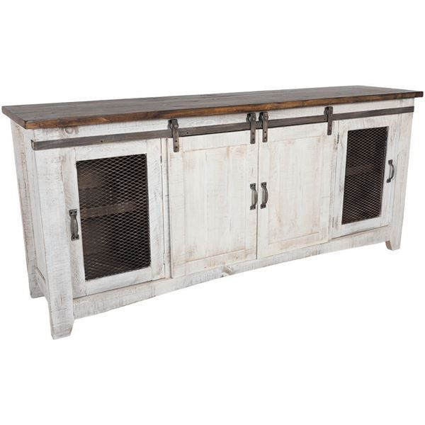 The Pueblo rolling barn door TV stands by Artisan Home / IFD have arrived at American Furniture Warehouse! See the whole collection here and save!